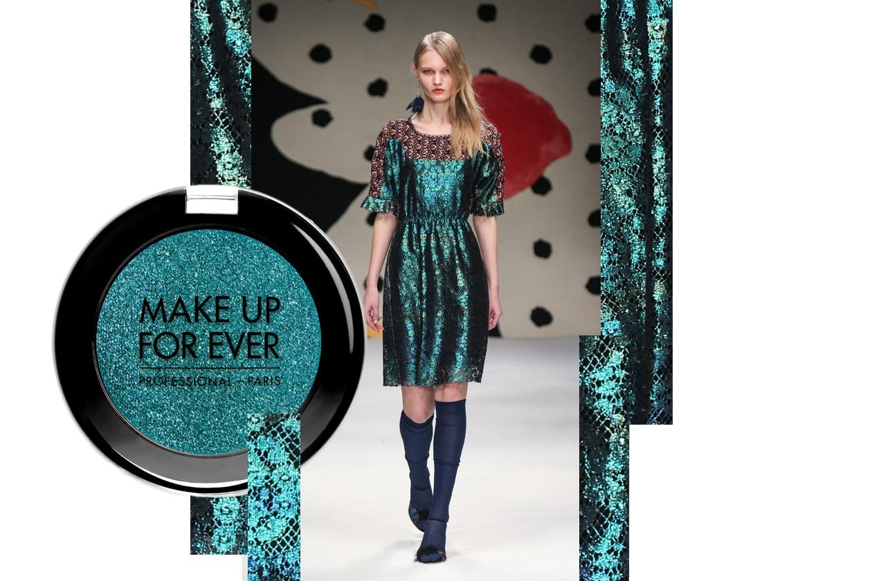 Metallic make up: green