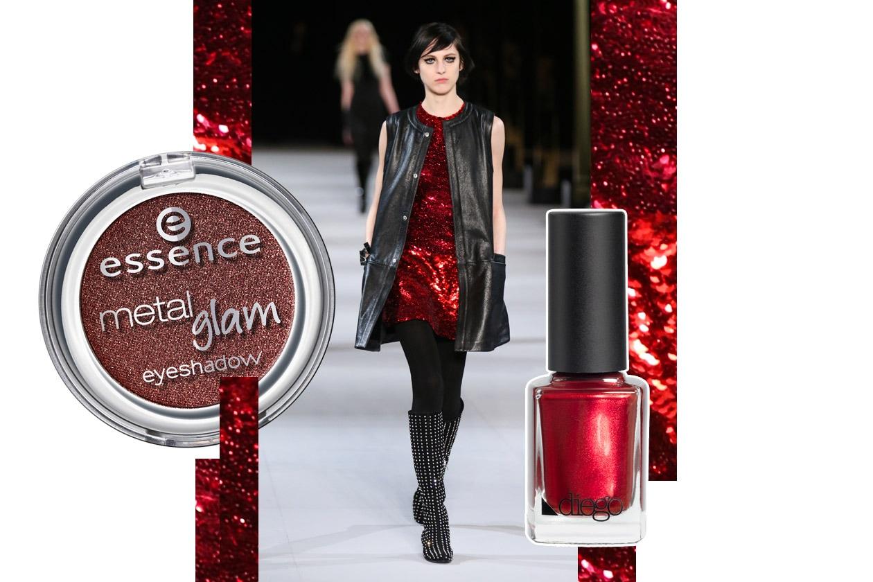Metallic make up: red