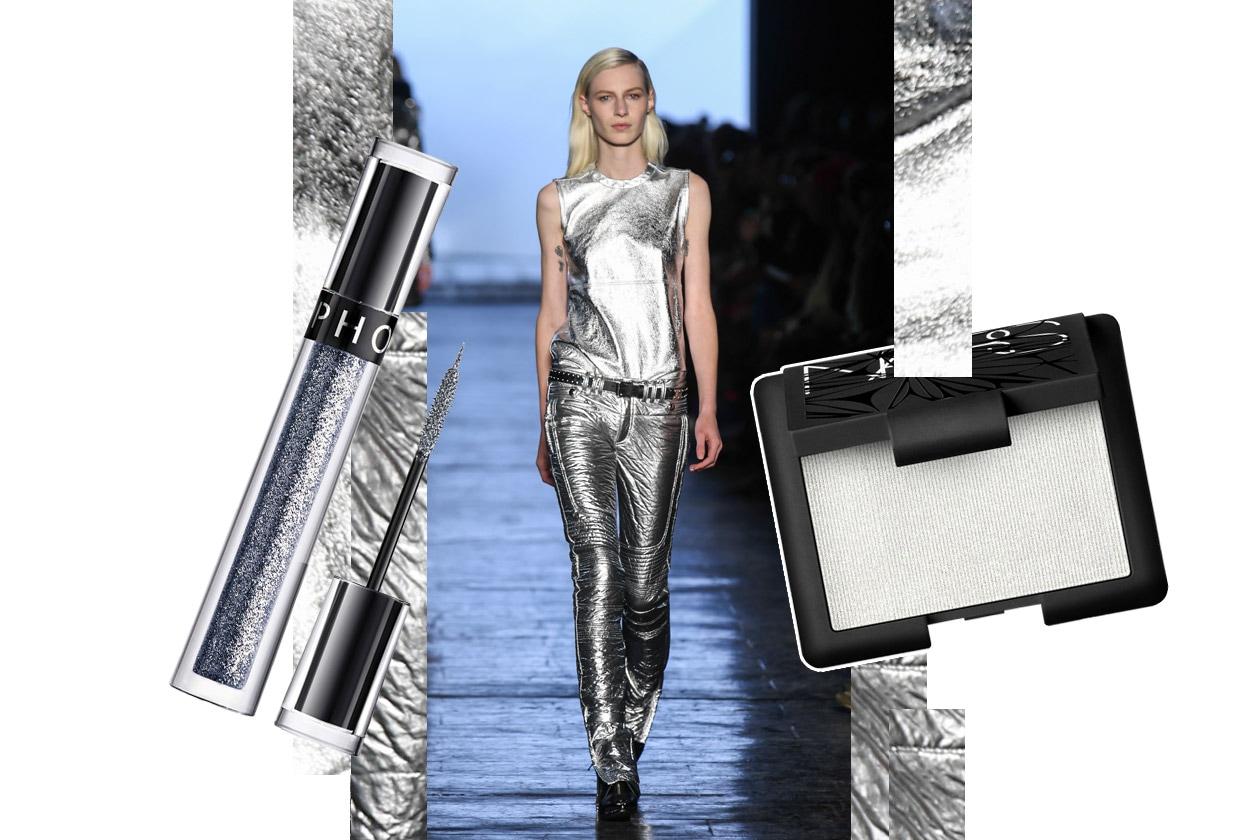 Metallic make up: silver