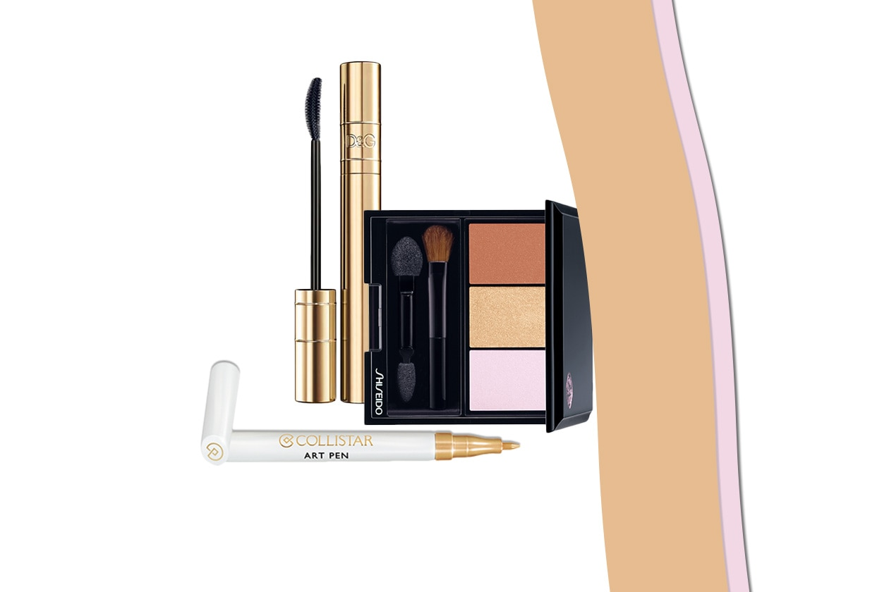 Polveri satinate e luminose che accendono lo sguardo è il look scelto da Olivia Munn (Shiseido – Dolce&Gabbana – Collistar )
