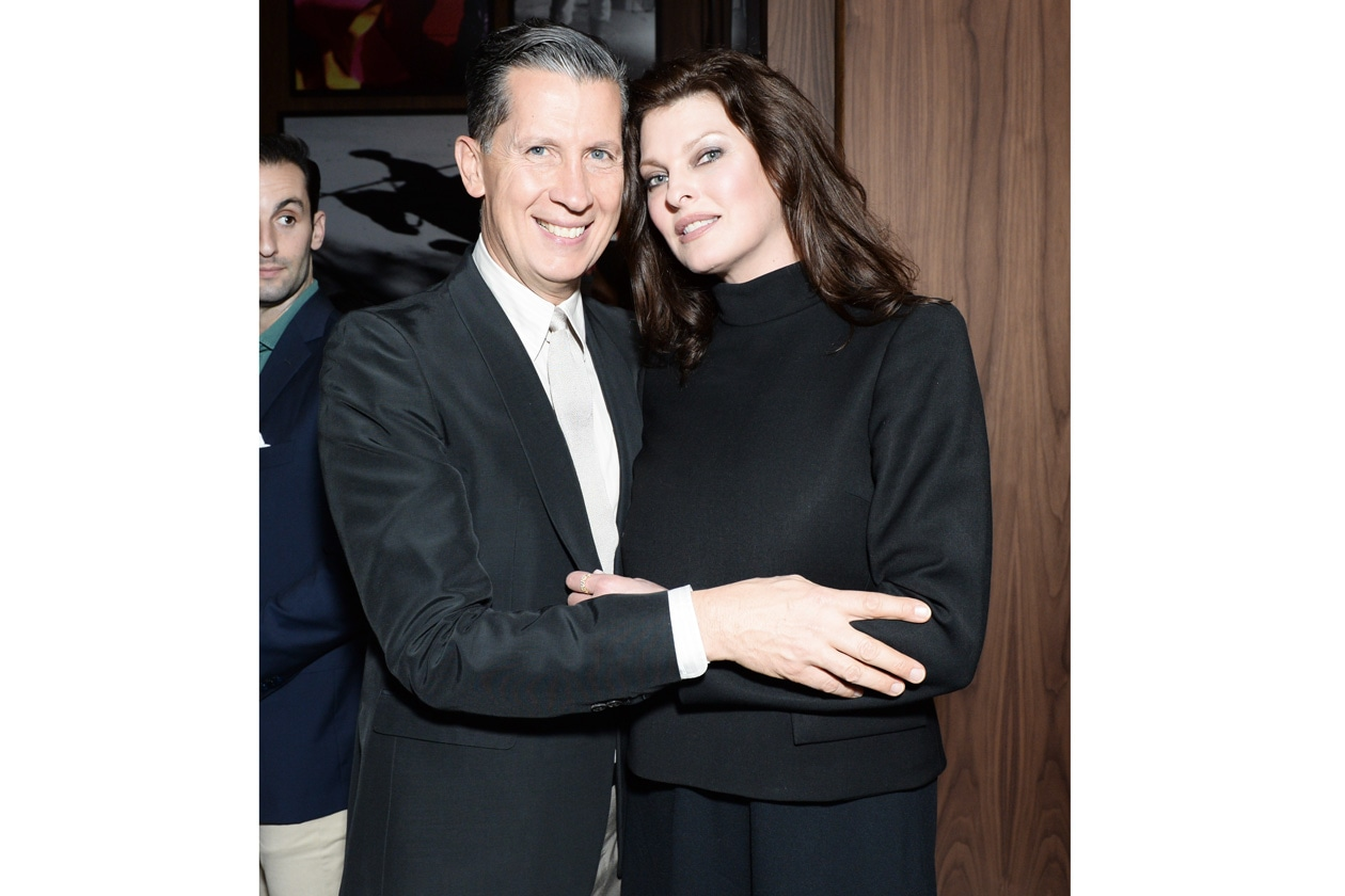Stefano Tonchi and Linda Evangelista THE MIAMI BEACH EDITION HOTEL launches with a celebration for W MAGAZINE
