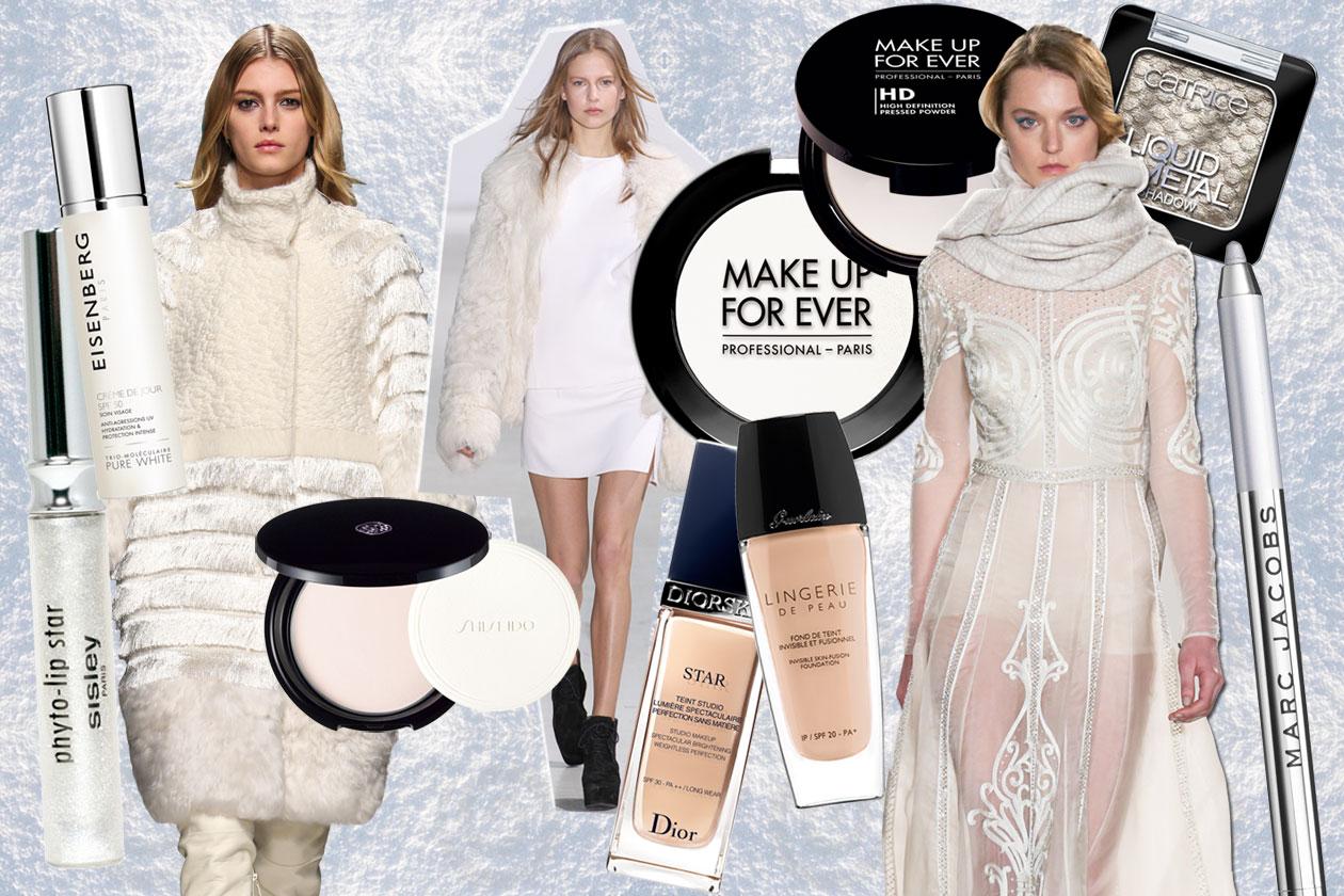 Trucco bianco e ghiaccio: i prodotti beauty e gli abbinamenti fashion per un look da regina delle nevi