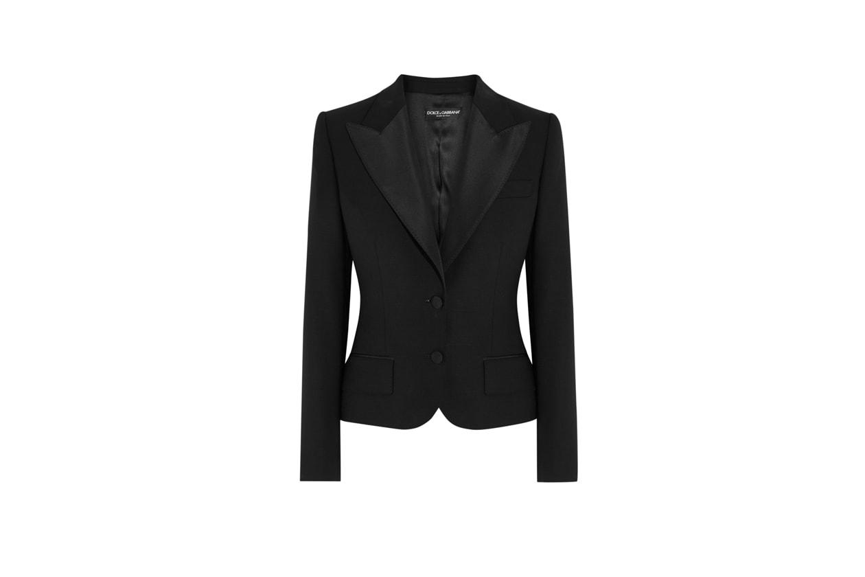 Trucco giorno e sera: giacca nera Dolce & Gabbana