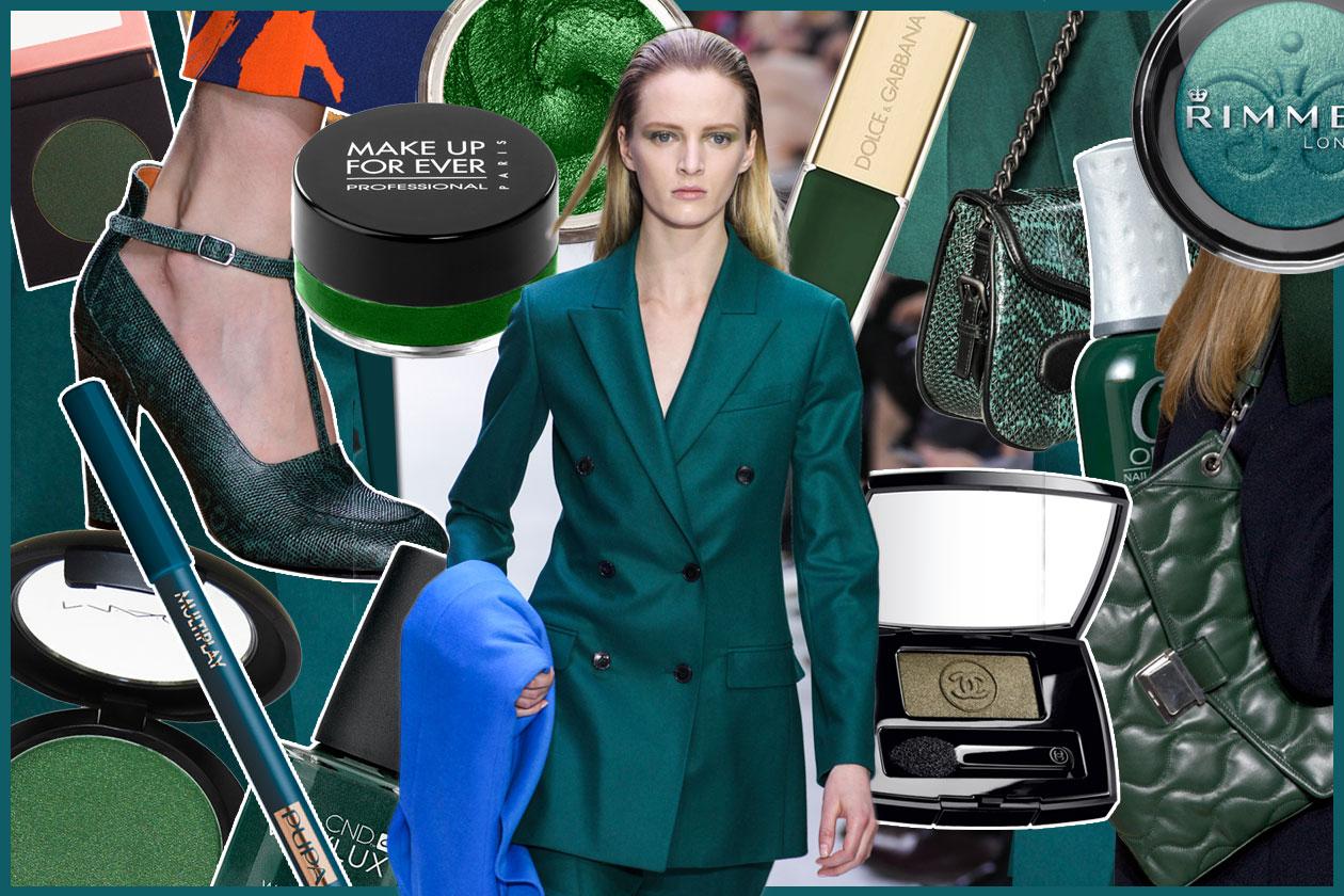 Trucco verde smeraldo e foglia  come abbinarlo agli abiti - Grazia.it 198571df529f