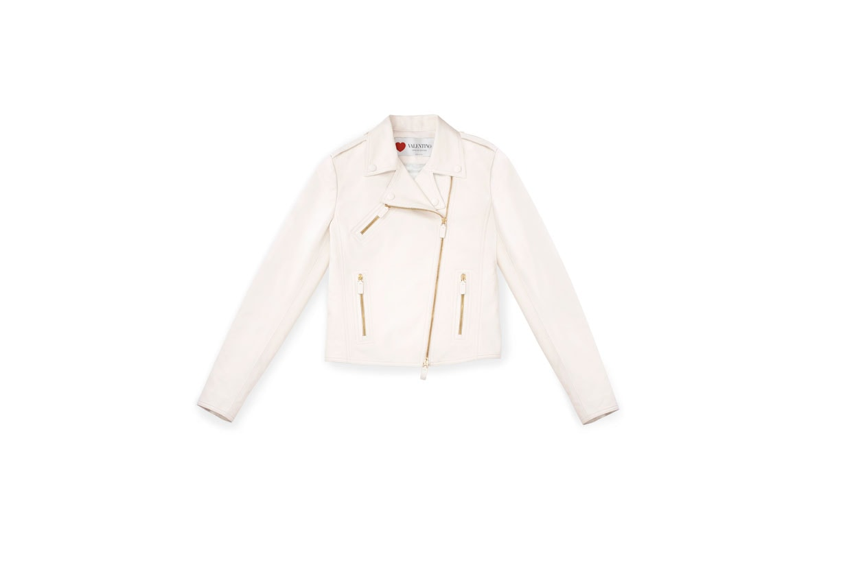 Valentino Capsule collection Leather Biker Jacket Front