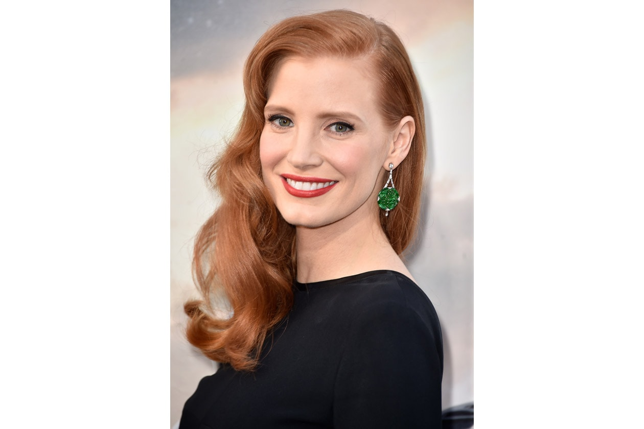 ONDE IN STILE OLD HOLLYWOOD PER JESSICA CHASTAIN