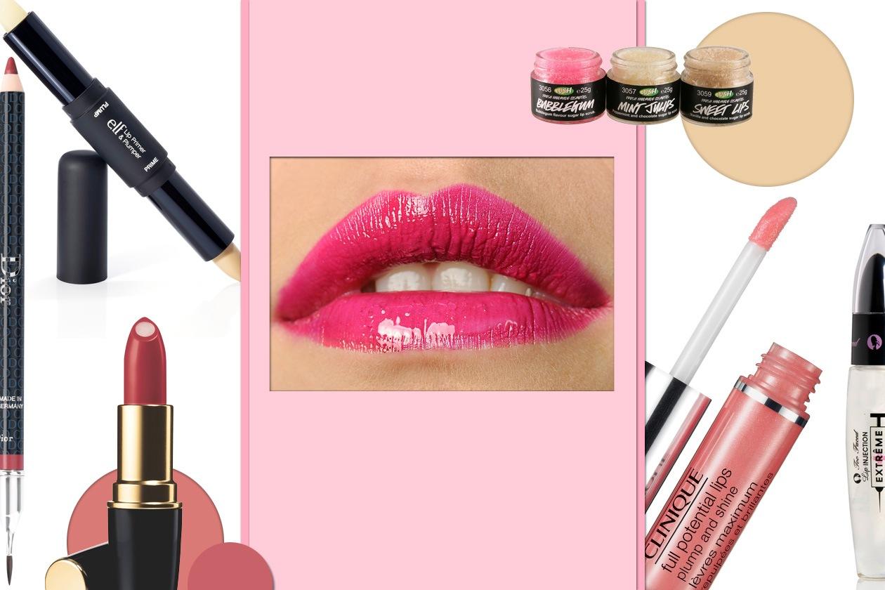 beauty trucco per labbra sottili Collage
