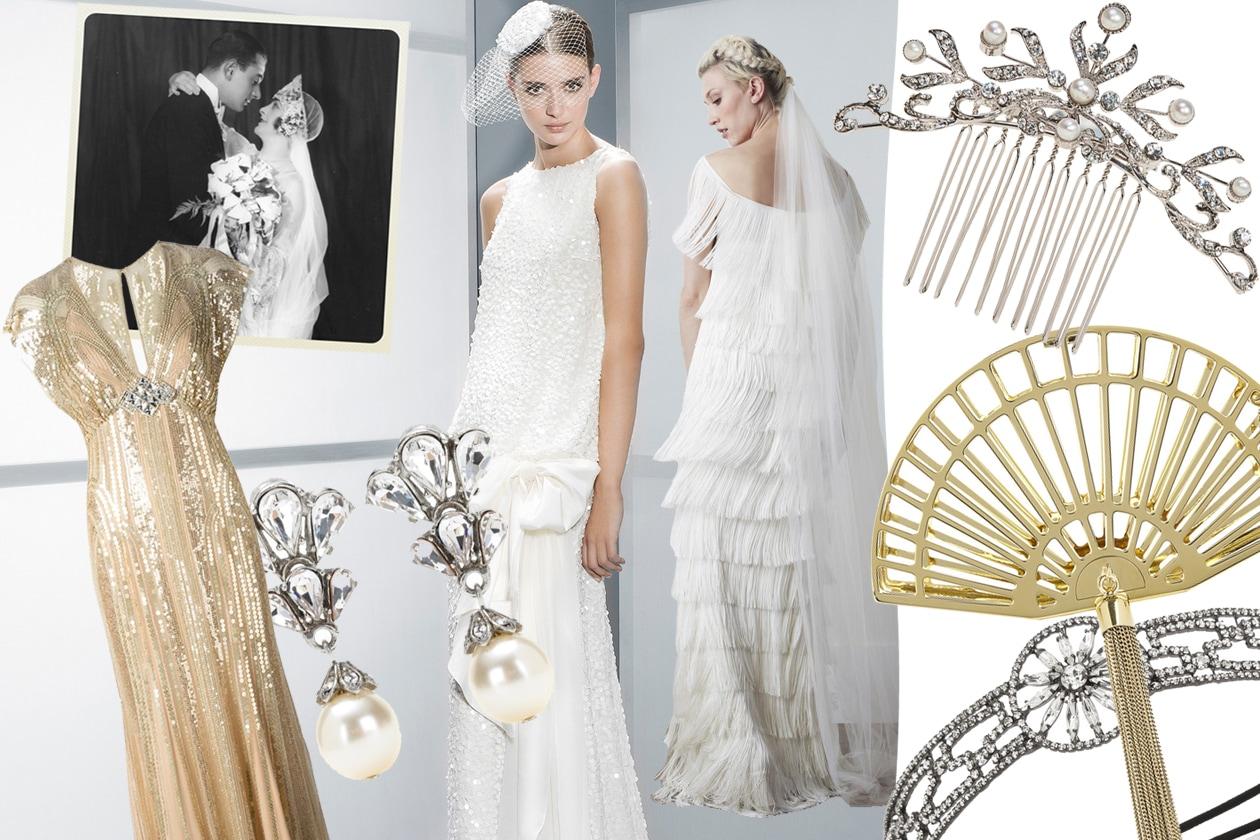 Amato La sposa Anni 20: abiti e accessori per un'ispirazione vintage  WQ41