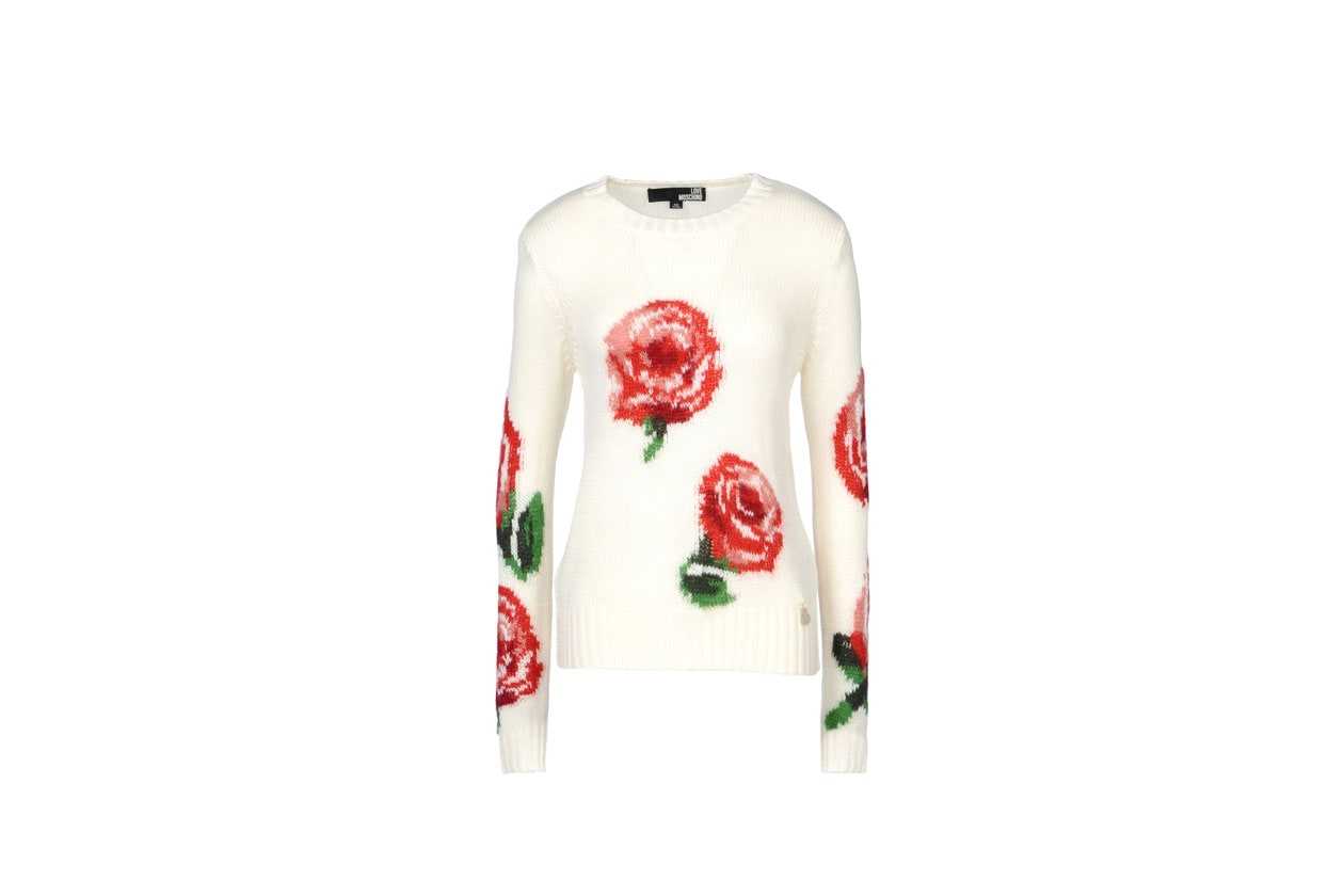 rose rosse, love moschino