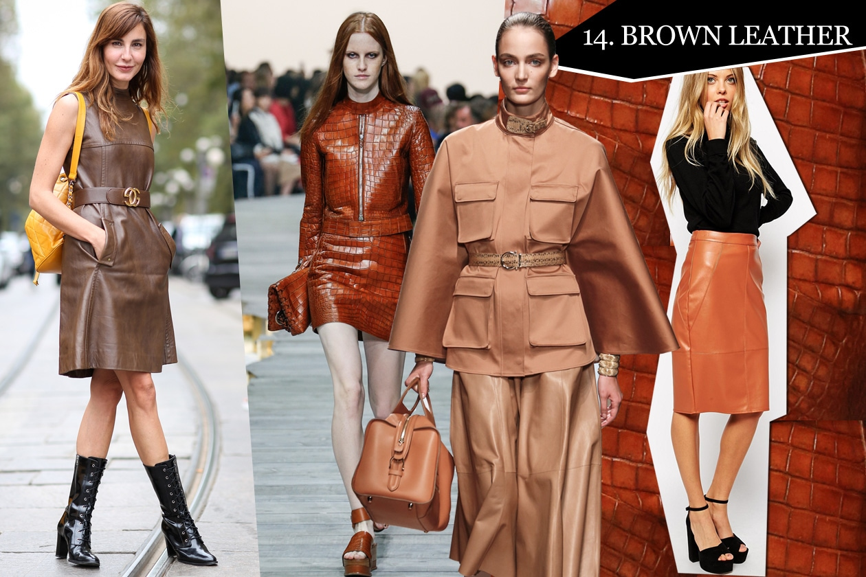 14. Brown leather