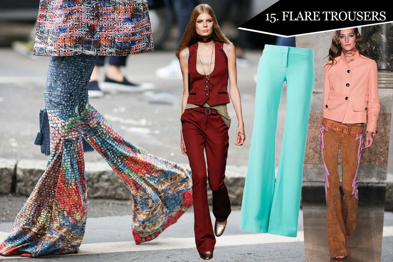15. Flare trousers