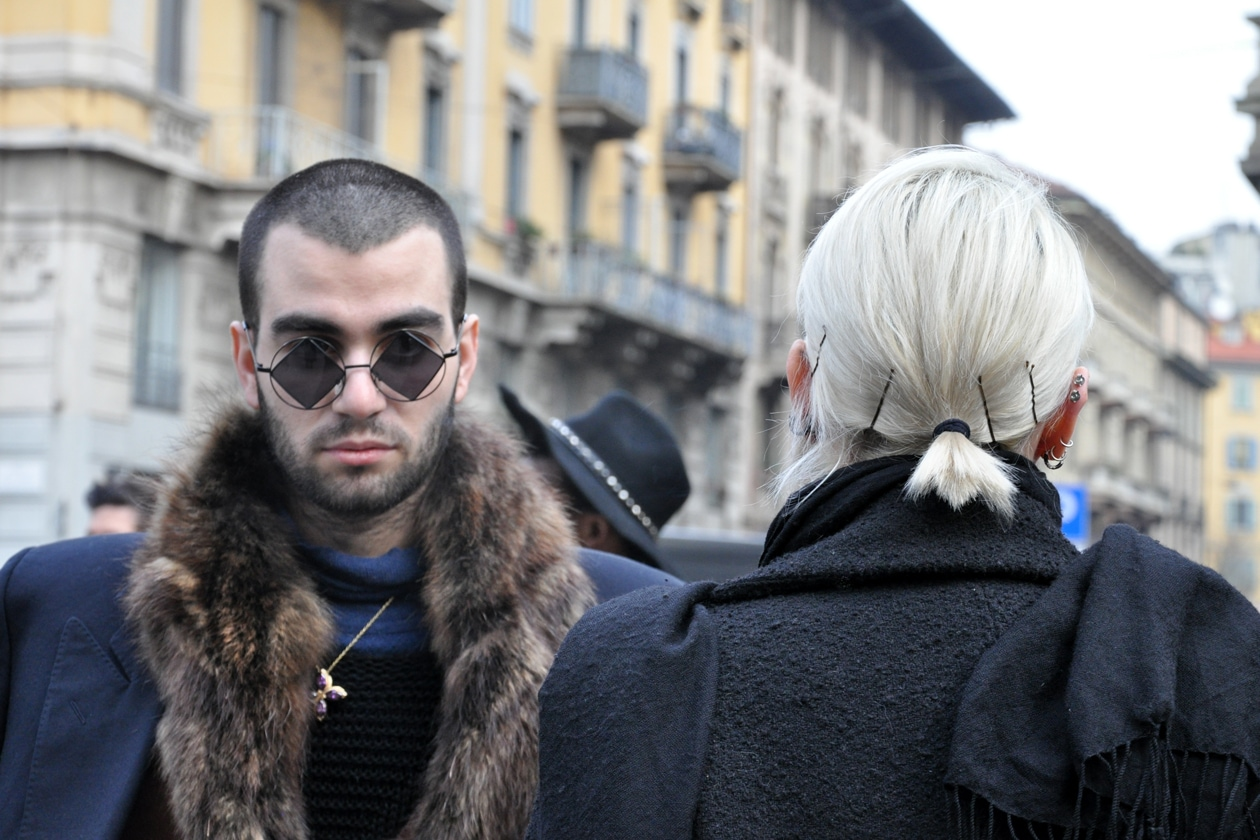 Beauty on the streets: white hair