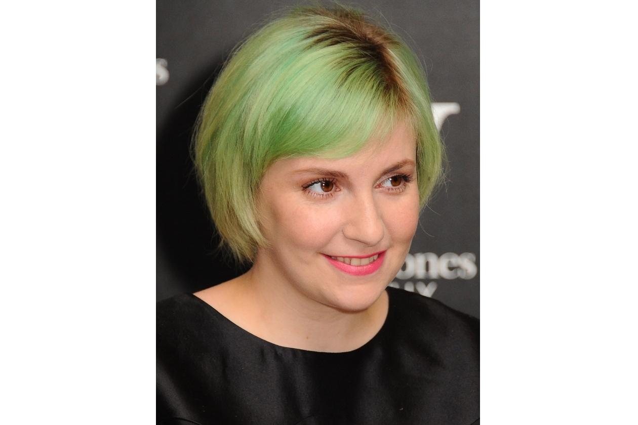 Capelli verdi delle star: Lena Dunham