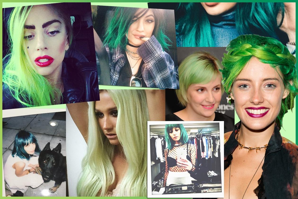 """Capelli verdi delle star: da Nicole Richie a Chloe Norgaard, le celeb scelgono chiome """"green"""""""