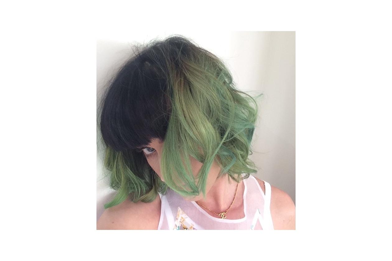 Capelli verdi delle star: il bob di Katy Perry