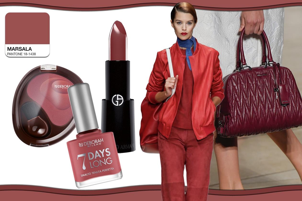 Colori Pantone primavera/estate 2015 beauty&fashion: Marsala