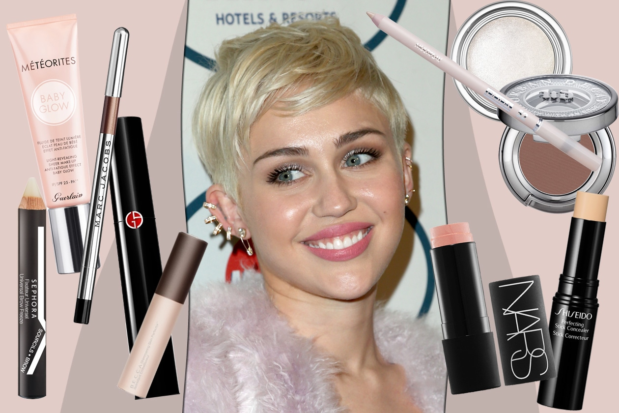 Miley Cyrus get the glowy make up look