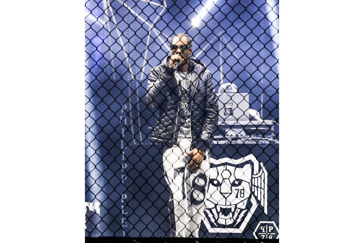 PHILIPP PLEIN men aw1516 runway @BFANYC (3) Snoop Dogg