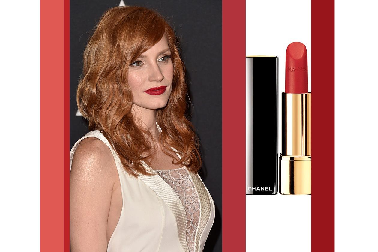 Rossetti opachi: rosso come Jessica Chastain