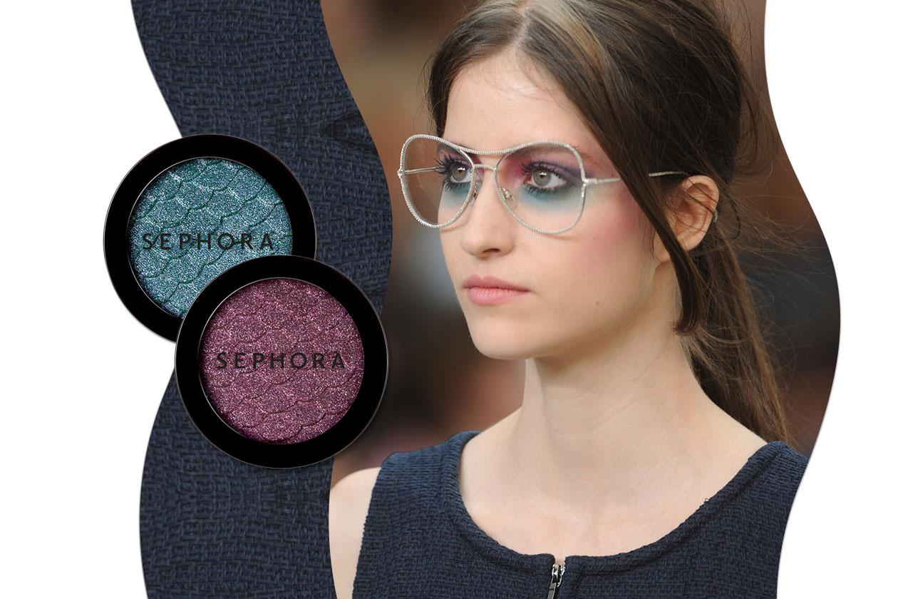 Trucco con gli occhiali: Chanel