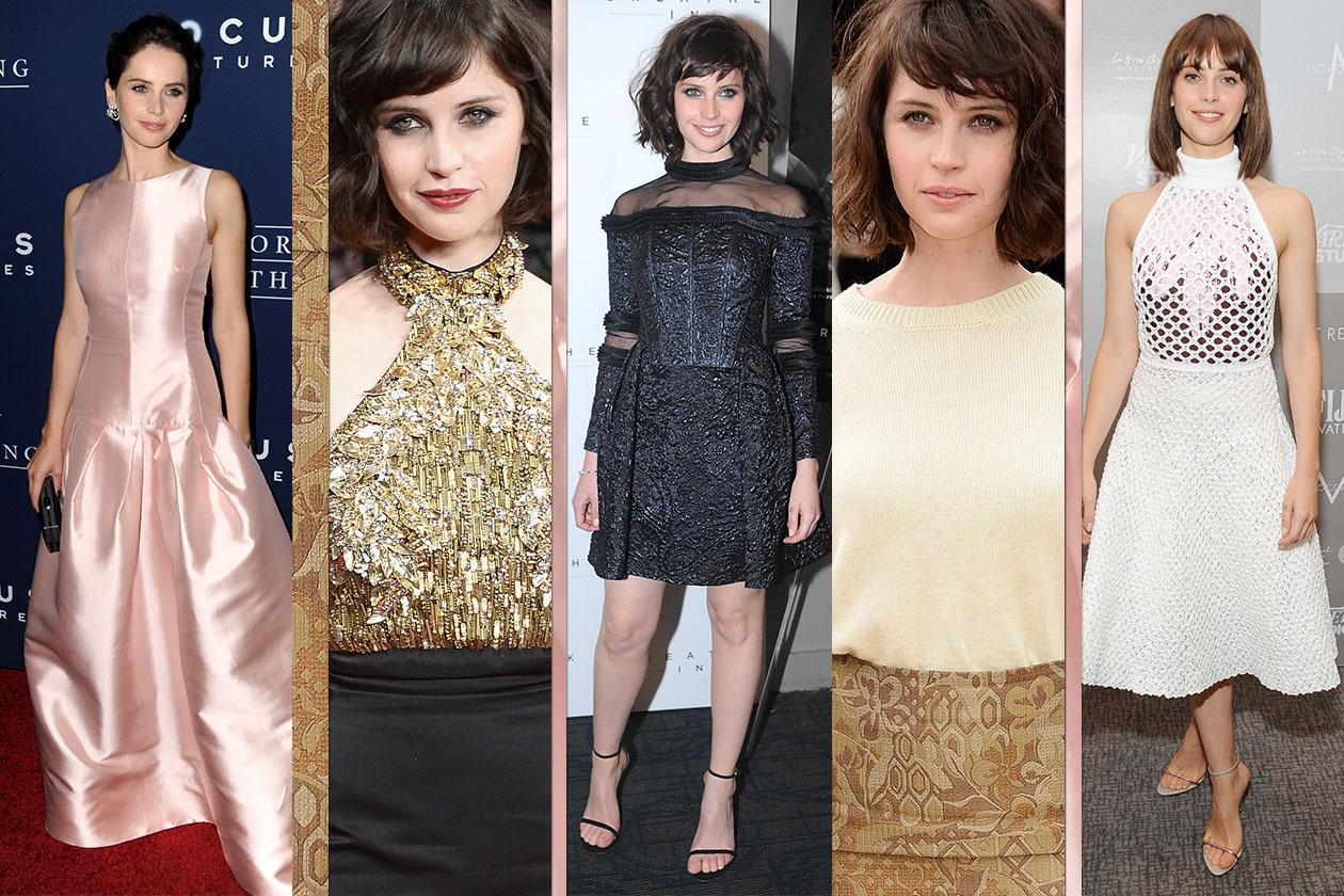 Felicity Jones: tutti i look più interessanti dell'attrice inglese