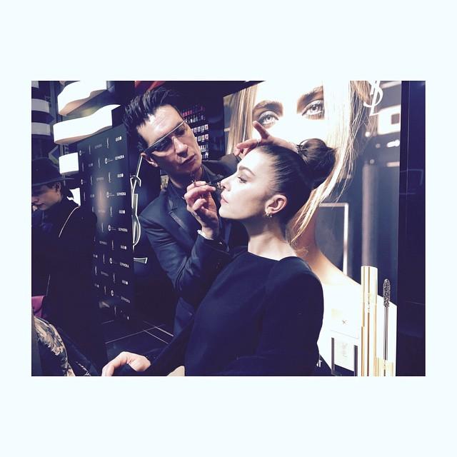 La nostra @gaia_grazia_it al Make up @ysl @sephoraitalia #getonstageyslbeauty