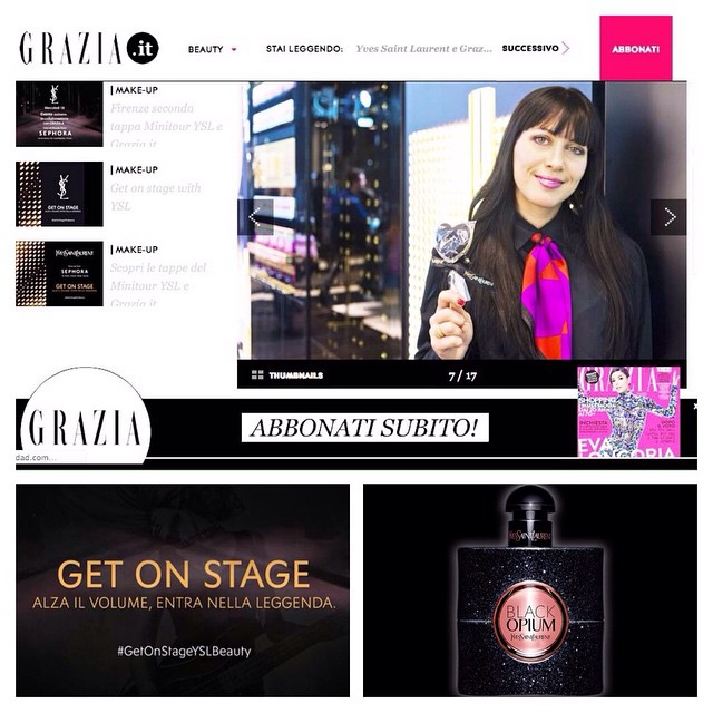In the #graziamagazine #getonstageyslbeauty #fashion #party #yvessaintlaurent #ysl #beauty #picoftheday #milan