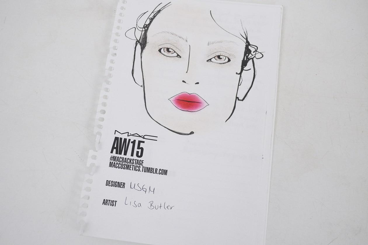 Backstage MSGM A/I 2015-16: la face chart