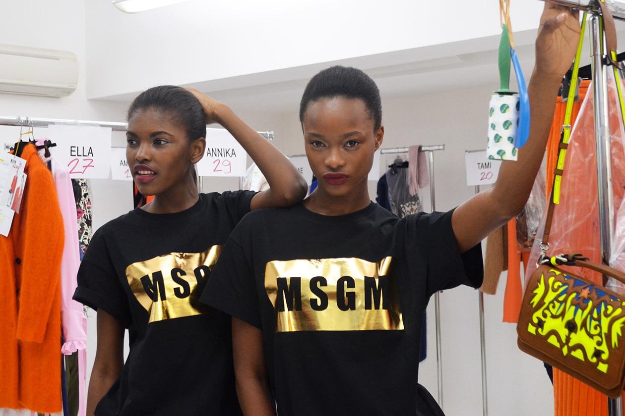 Backstage MSGM A/I 2015-16: stike a pose!