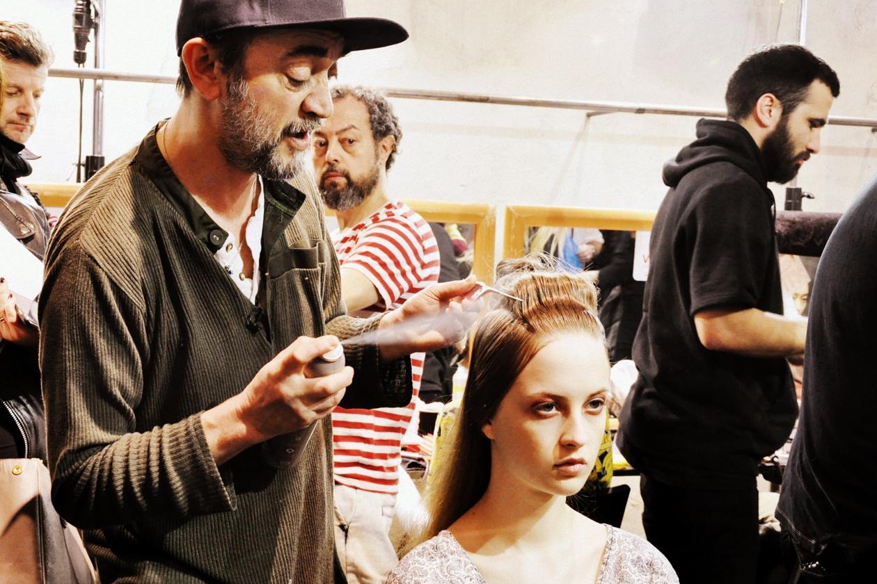 Backstage sfilata Antonio Marras: Eugene Souleiman