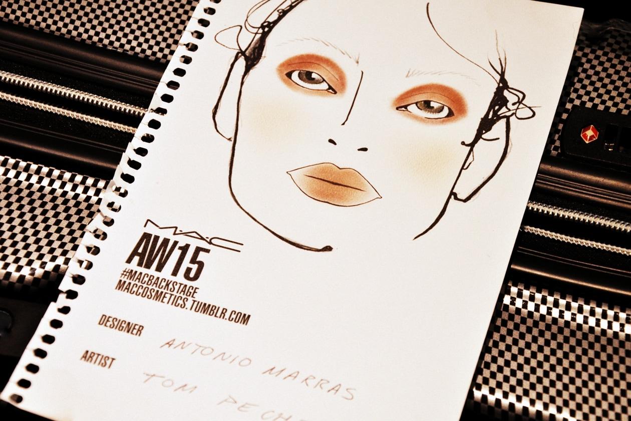 Backstage sfilata Antonio Marras: la face chart