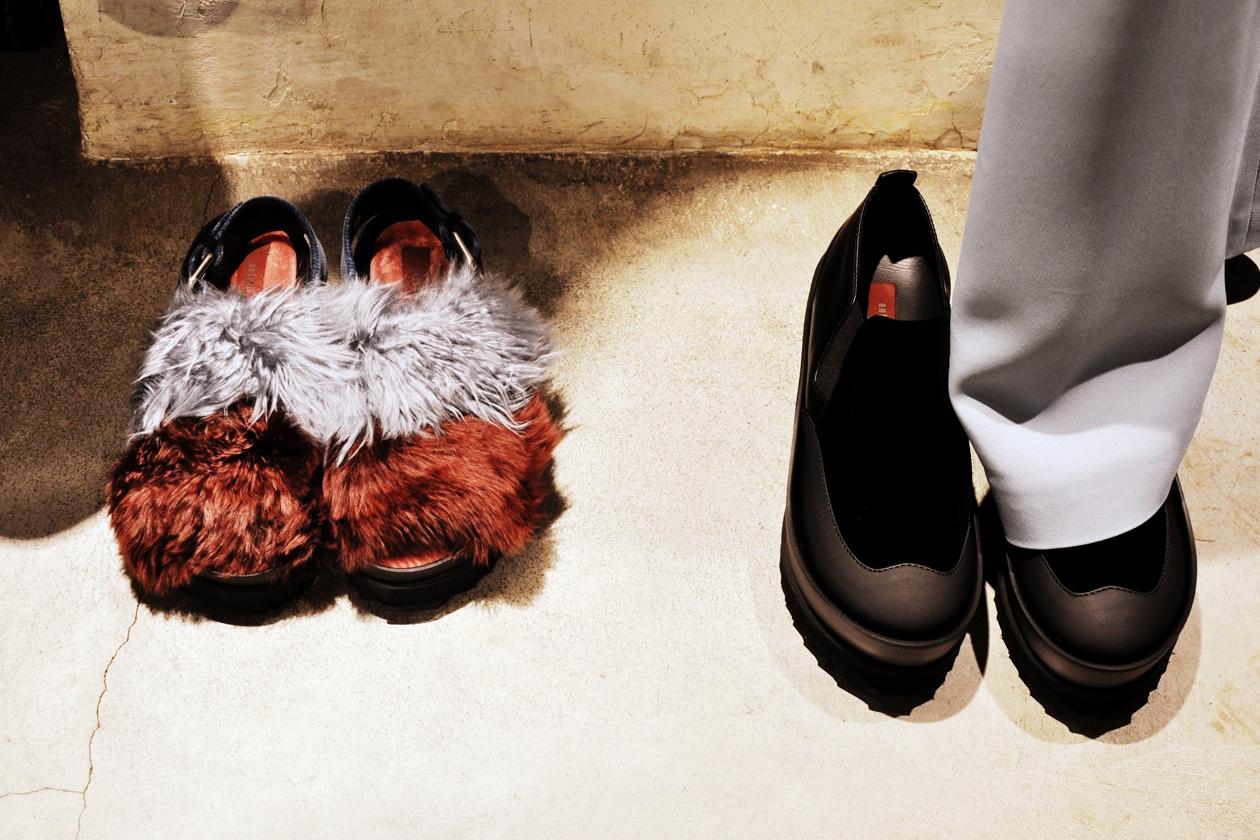 Backstage sfilata Antonio Marras: le scarpe