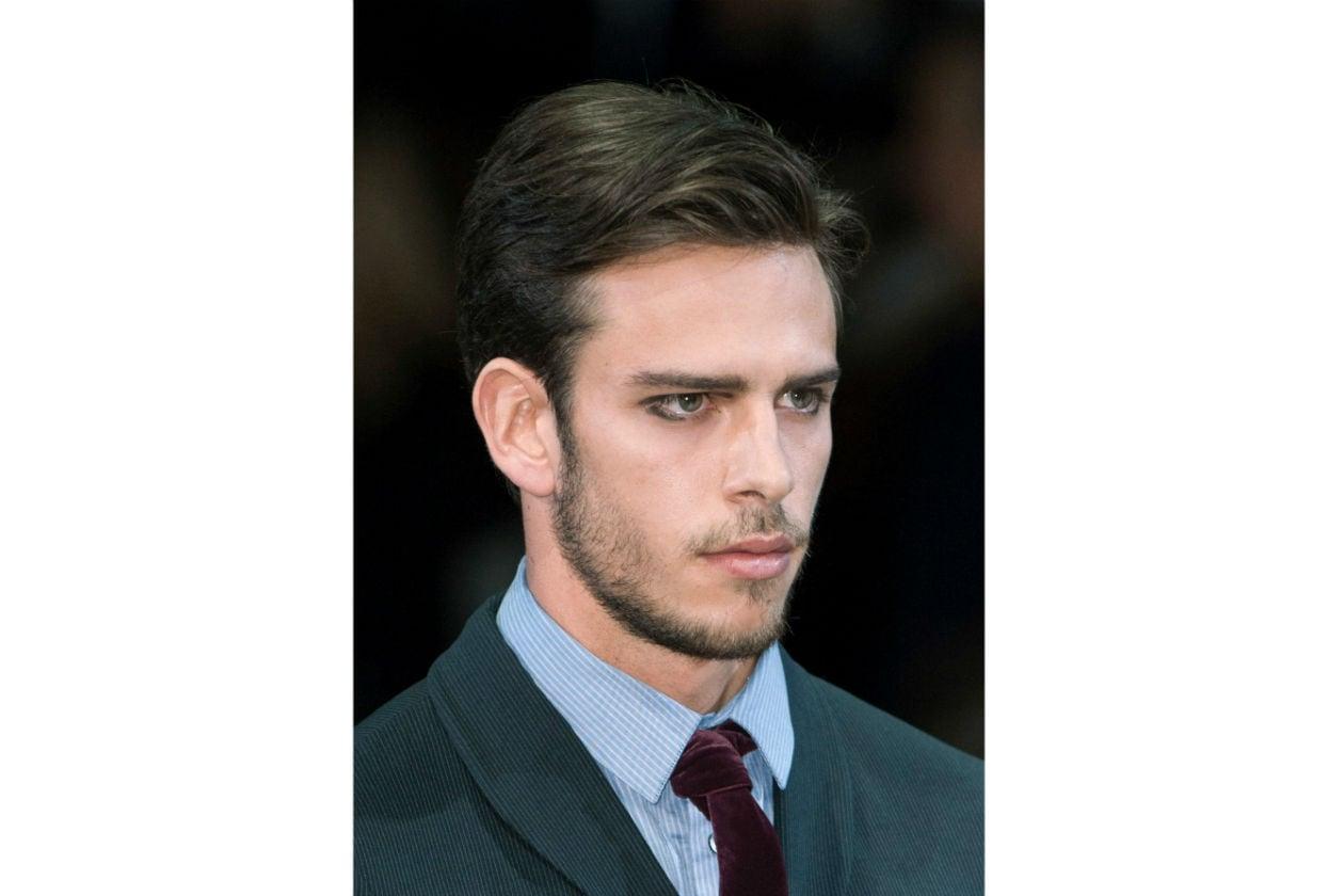 Barba corta per Giorgio Armani