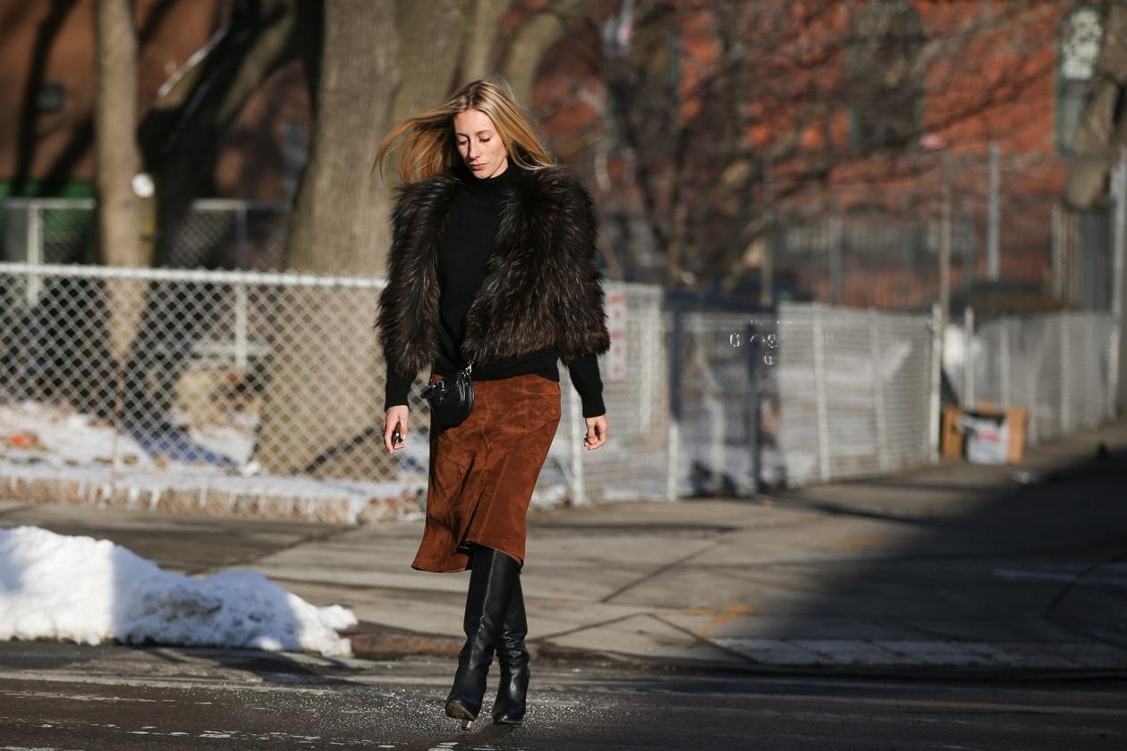 Capelli con la riga in mezzo: dallo street style di New York
