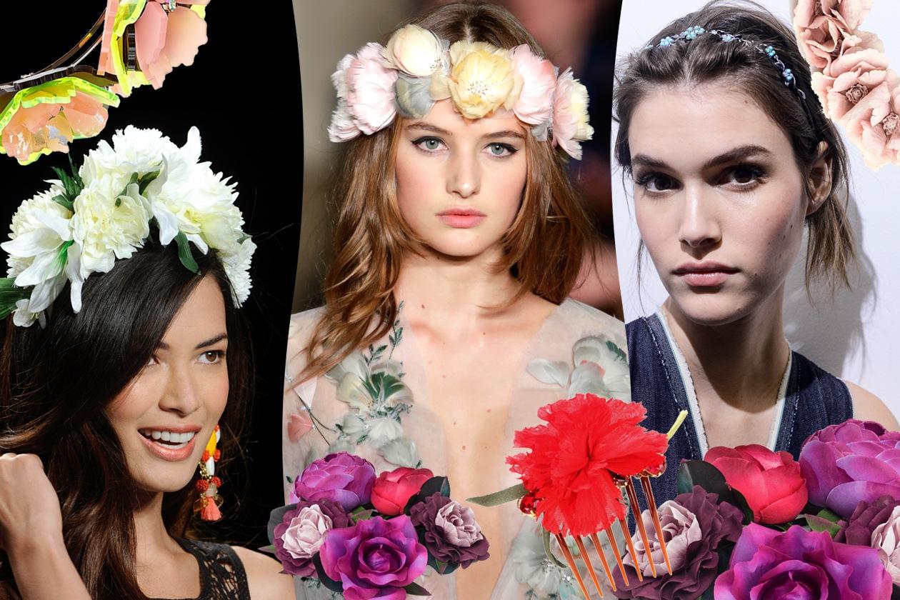 Capelli: gli accessori con i fiori per la Primavera/Estate 2015