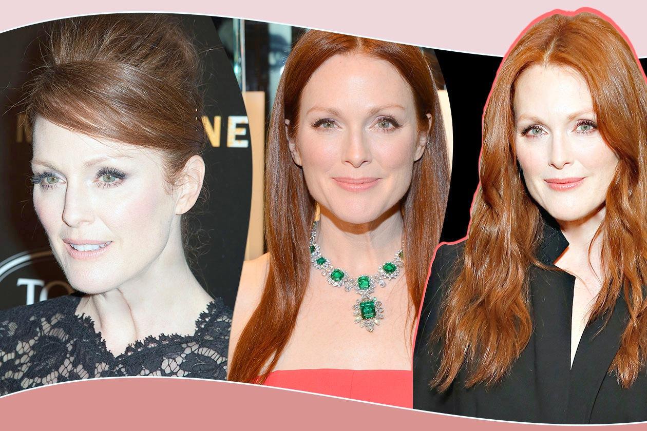Capelli rossi e stile classico sono un binomio di successo per Julianne Moore. Grazia.IT ha selezionato i suoi migliori hair look