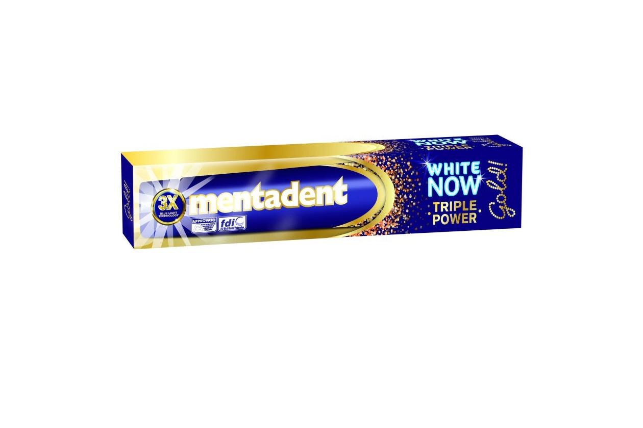 Come avere denti più bianchi: Mentadent Max White Now Triple Power Gold