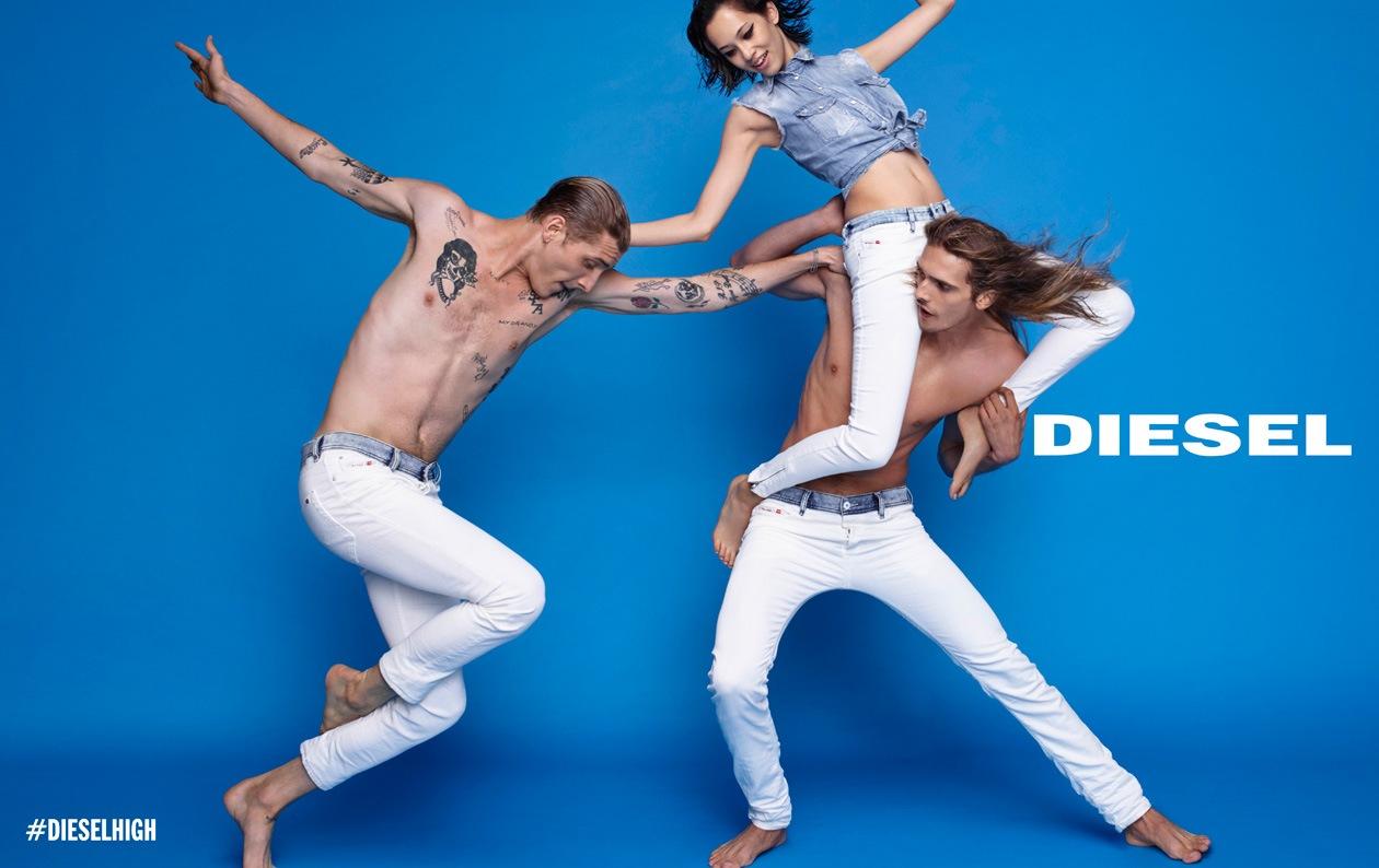 DIESEL SS15 AD DPS 06 WHITE DENIM