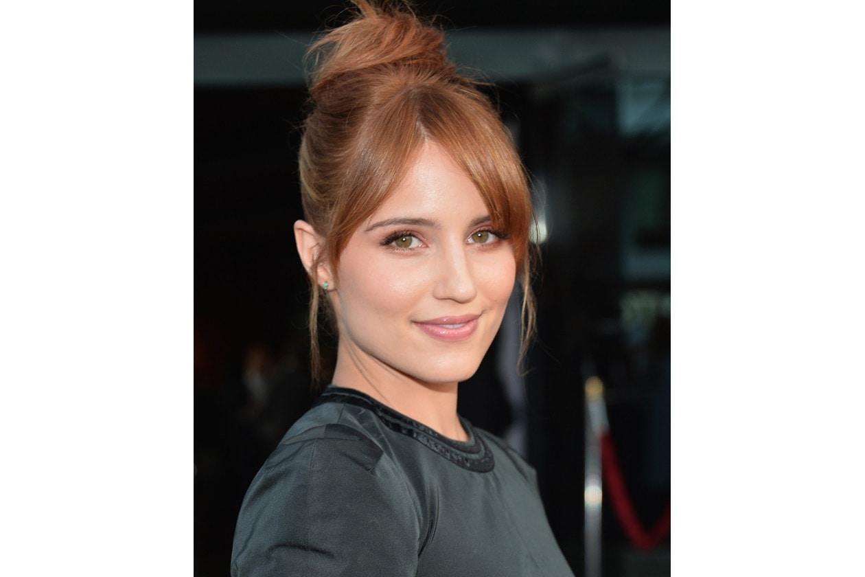 Dianna Agron capelli: chignon alto