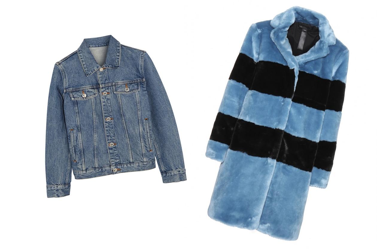 Giacchino in jeans e pellicciotto