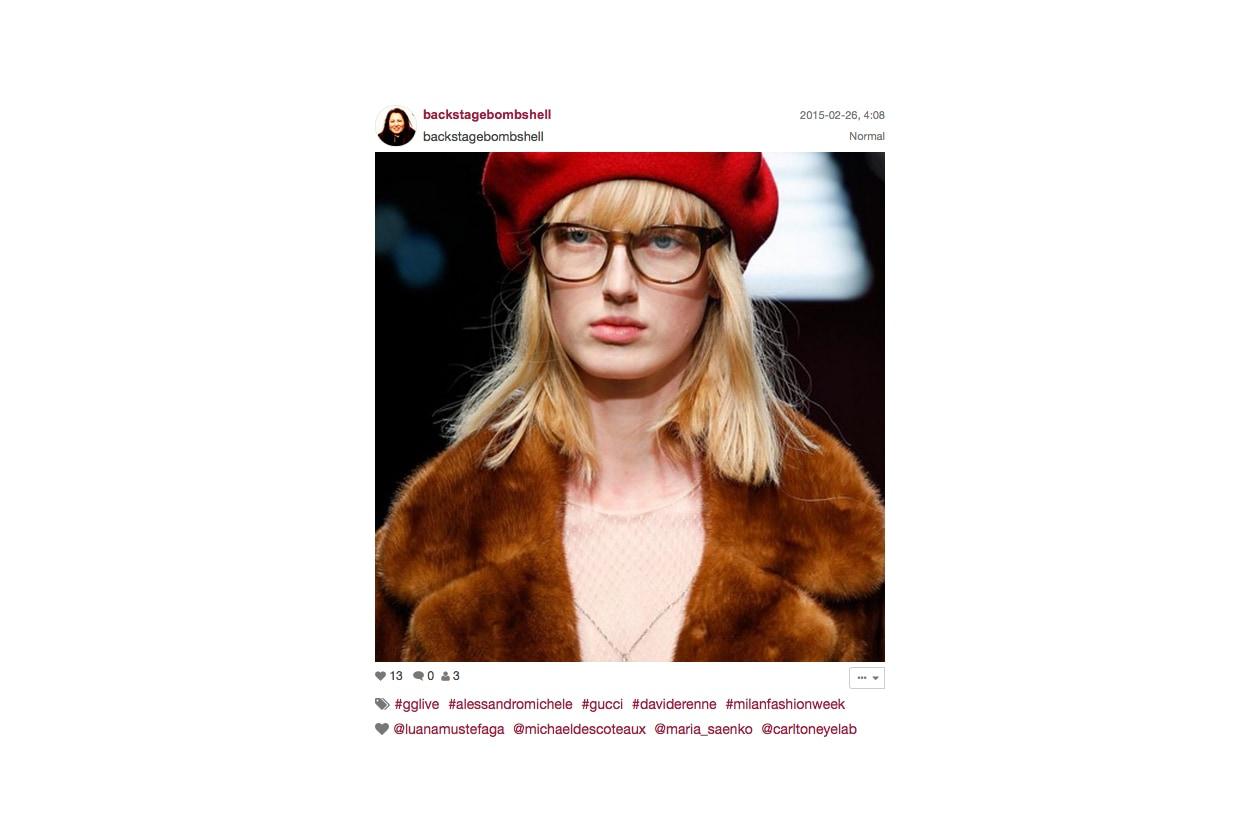 Gucci Autunno/Inverno 2015-16: bob con frangia