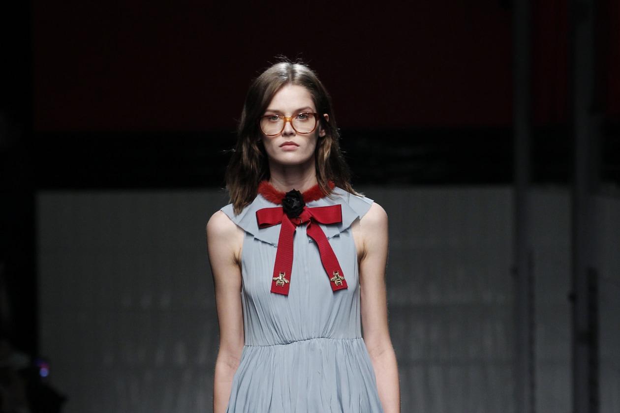 Gucci Autunno/Inverno 2015-16: long bob con riga centrale