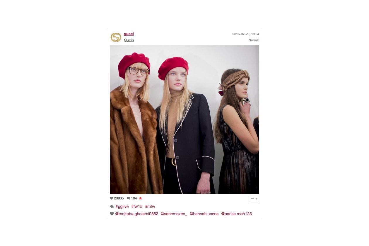 Gucci Autunno/Inverno 2015-16: uno scatto dal backstage
