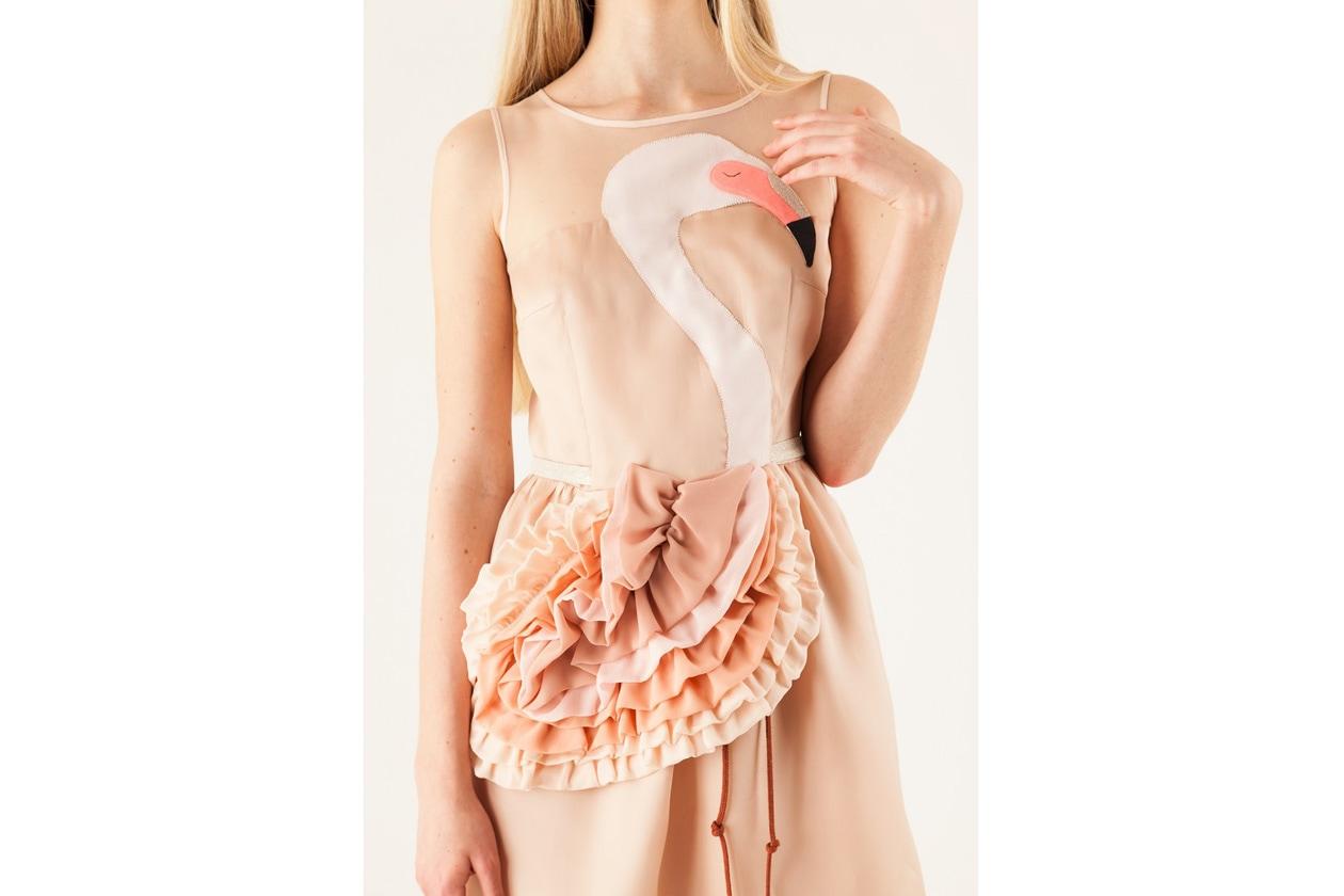 L'abito con fenicottero