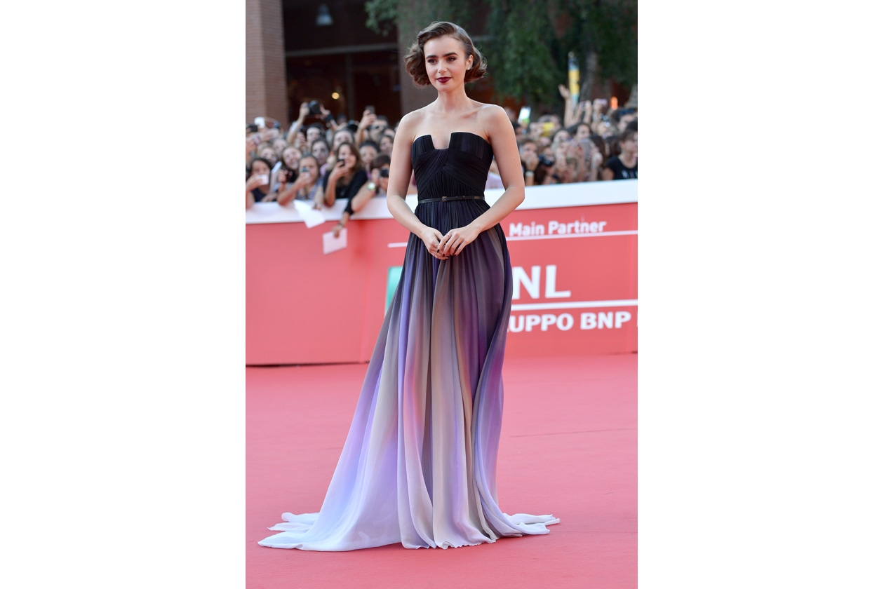 Lily Collins elie saab couture