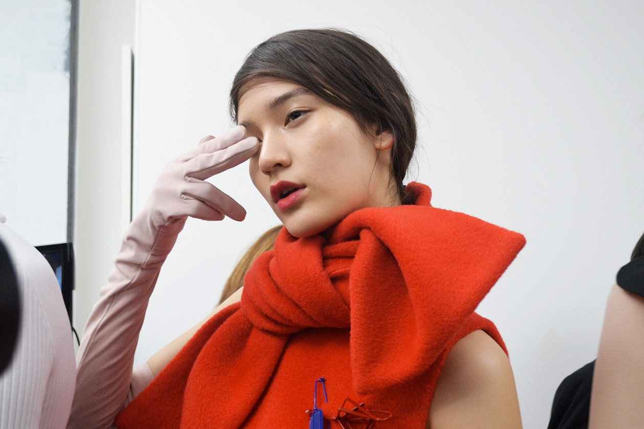 MSGM Autunno/Inverno 2015-16: il backstage make up & hair