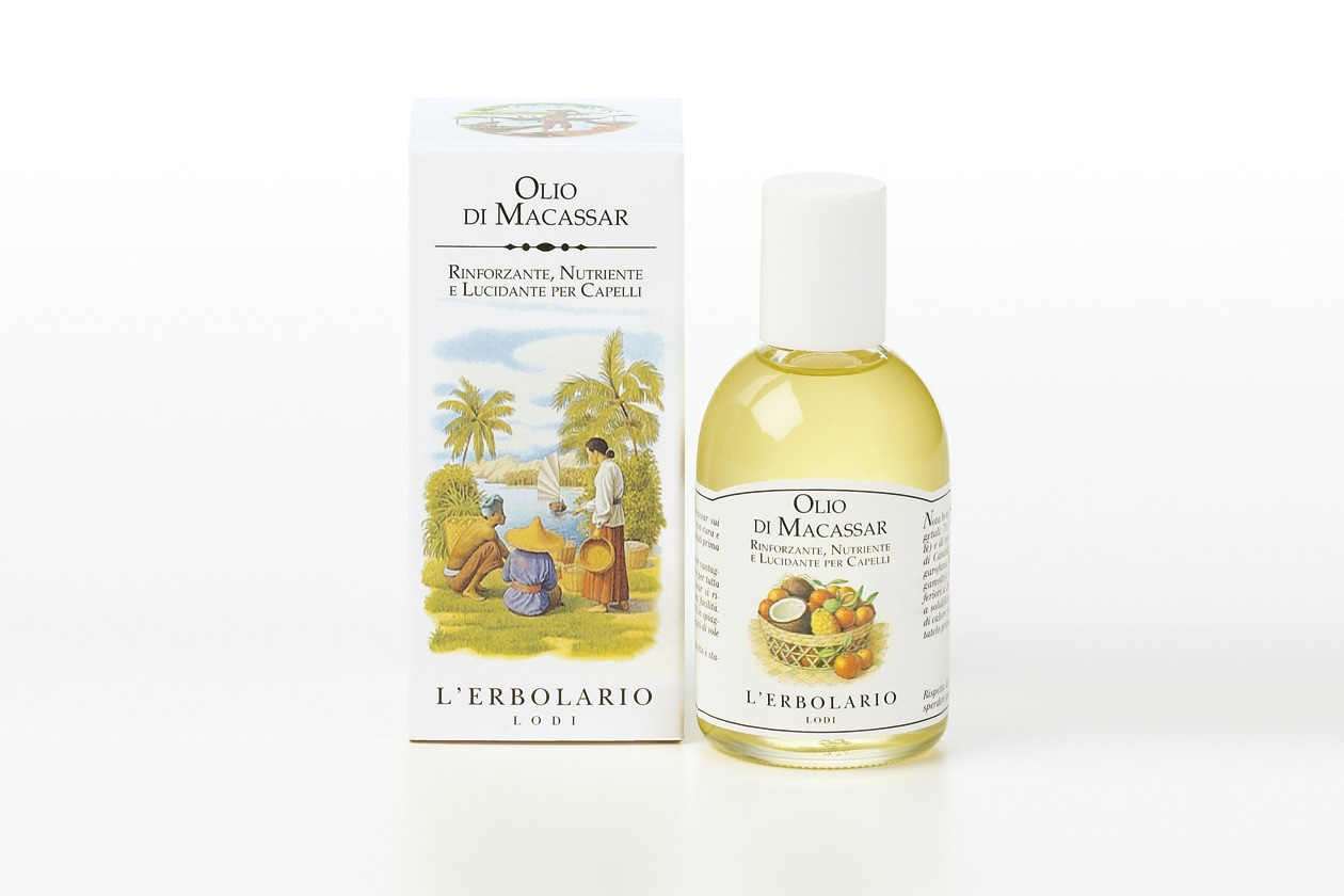 Olio impacco pre-shampoo capelli secchi: L'Erbolario Olio di Macassar