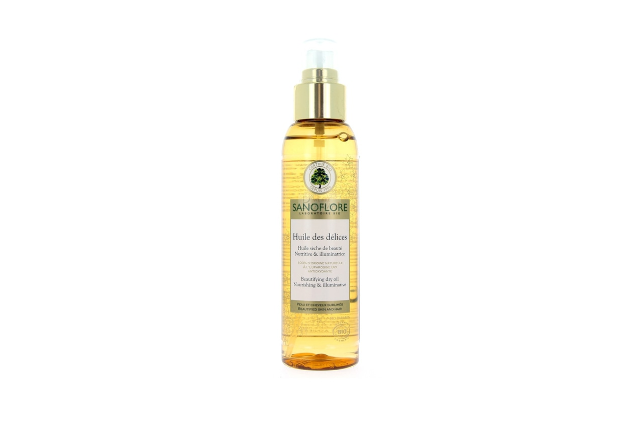 Olio impacco pre-shampoo capelli secchi: Sanoflore Huile des Délices