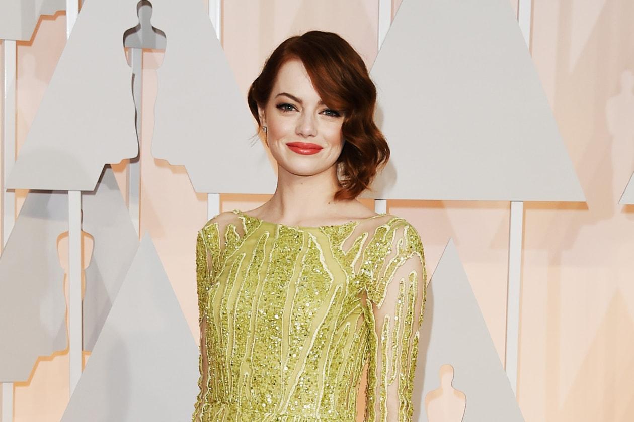 Oscar 2015 Migliore ciuffo laterale mosso: Emma Stone