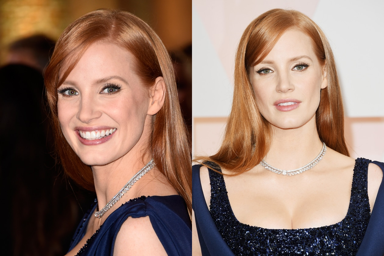 Oscar 2015 Migliori capelli lisci: Jessica Chastain